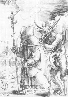Urs Graf, Hermit and Devil (1512)