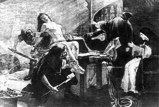 Torture inflicted on those accused of witchcraft